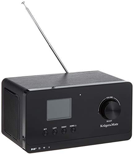 Krüger&Matz KM0816 Internetradio met weerstation, alarm, RDS, Bluetooth FM/DAB+ / Internet zwart