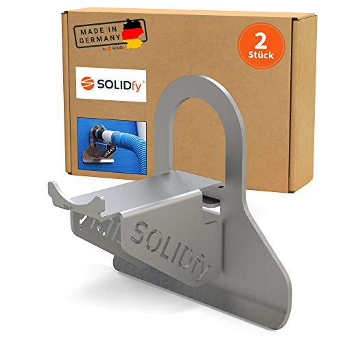 SOLIDfy® - [2X 26mm - 38mm Pool Schlauchhalter Knickschutz aus Edelstahl für Intex und Bestway Swimmingpool