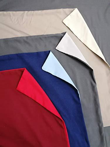 Pago Poco Bettwäsche-Set mit Unterlage aus superweicher Mikrofaser, einfarbig, wendbar, Maße: Doppelbett, französisches Bett ! 160 x 190 cm bordeaux