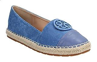 Dejavu Braided Raffia Sole Faux Leather Espadrille Shoes For Women