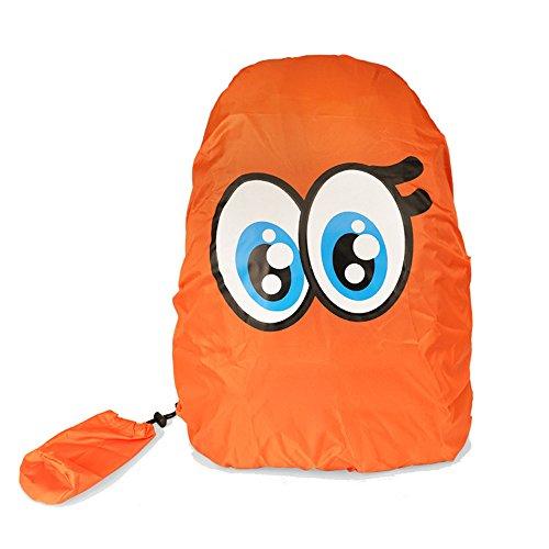 Zaino impermeabile VERTTEE, zaino per la scuola, custodia impermeabile, tasca nylon 30-40 l, antipolvere, copertura per escursioni all'aria aperta, neve, Adulti (unisex), Orange