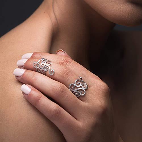 Set mit 2 Spiralringen aus Sterlingsilber, handgefertigtem griechischem Schmuck von Emmanuela, griechischen Ringen, einzigartigem Midi-Ring, ungewöhnlichem Ring für Frauen, Hochzeitsschmuck