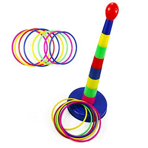 Kleurrijk Plastic Meerkleurig Gooi Cirkel Activiteit Ringgooi Puzzel Speelgoed Tafelspellen Intelligentieontwikkeling Ouder-Kind Sport Spel Voor Kinderen Buiten Binnenspel