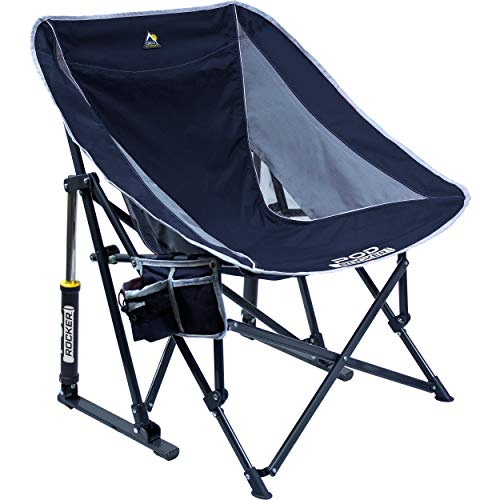 GCI Outdoor Pod Rocker Collapsible Rocking Chair, Indigo Blue