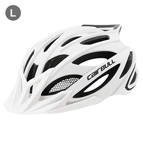 Exuberanter Fahrradhelm MTB Mountainbike Helm Rennradhelm Verstellbares Atmungsaktives Reitzubehör Für Damen Herren, Mit Abnehmbarer Schild Visier, M (55-59 cm) / L (59-62 cm)