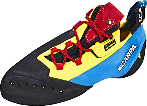 Scarpa Chimera, Chaussons d'escalade Homme, Yellow-Black-Vivid Blue FZ, 38.5 EU
