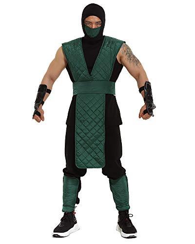 miccostumes Herren Reptil Cosplay Halloween Kostüm grün Anzug -  Grün -  Large