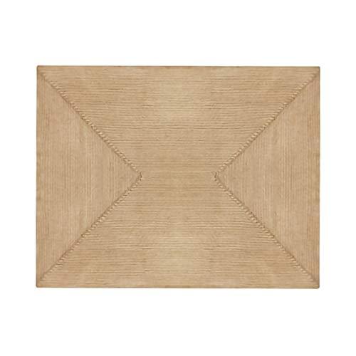 Alfombra Trenzada a Mano Alfombra cuadrada de yute trenzada amigable, duradera y reversible alfombras grandes para la decoración de la sala y la cama, fácil de lavar, 90 cm x 150 cm / 120 cm x 180 cm