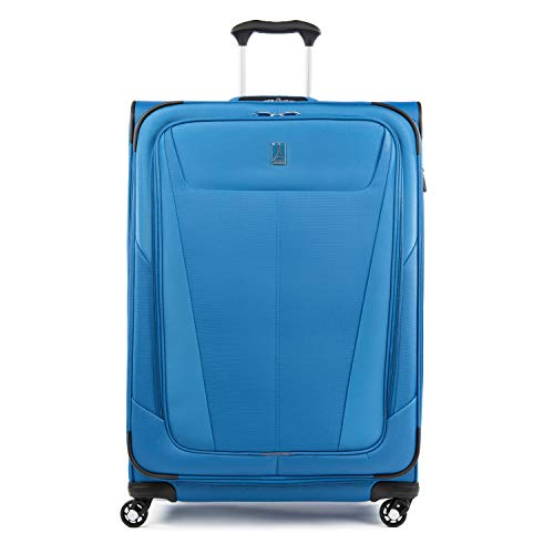 Travelpro Maxlite 5-Softside Expandable Spinner Wheel Luggage, Azure Blue, Checked-Large 29-Inch