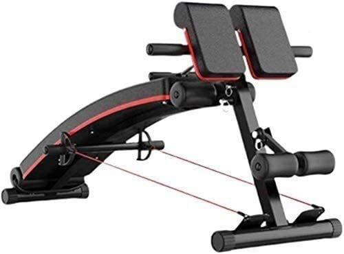 Banco de fitness de entrenamiento de Peso Ajustable Banco de gimnasio Banco de Peso Ajustable Banco, Banco de peso plegable, Banco de entrenamiento abdominal, 7 inclinado, con bandas de resistencia