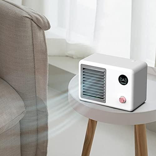 GFDFD Aire Acondicionado Portátil USB Air Cooler Fan Office Office Desktop Fan De Enfriamiento Ajustable De 3 Velocidades con Luz De Luz Colorida