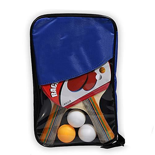 Y-H - Raqueta de tenis de mesa para entrenamiento de dos tiros de tres bolas de tiro horizontal de tenis de mesa, color azul