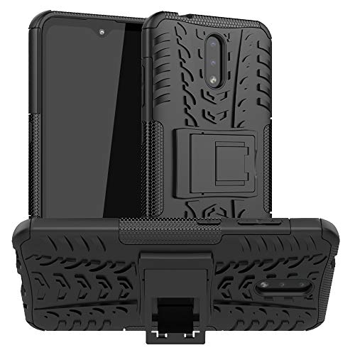 LFDZ Nokia 2.3 2019 Hülle,Abdeckung Cover schutzhülle Tough Strong Rugged Shock Proof Heavy Duty Hülle Für Nokia 2.3 2019(Not fit Nokia 2.2),Schwarz