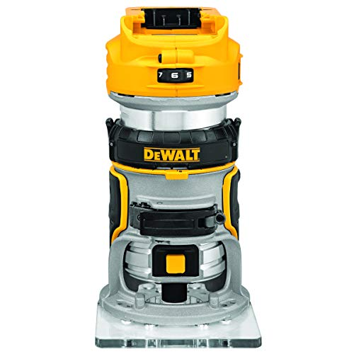 DEWALT 20V Max XR Cordless Router, Brushless, Tool Only (DCW600B), Black-v186, Mini-v186