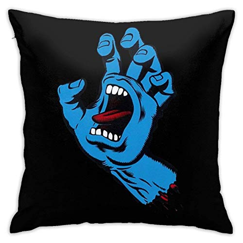linqi Screaming Hand Pillow Cover, Decorative Square Pillow Cover Sofa Bedroom Cushion Cover, for Home Decoration 18 X 18 Inch