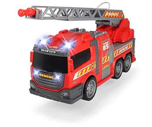 Dickie Toys Fire Fighter, Feuerwehrauto, Spielzeugauto, Feuerwehr, mit Wasserspritzfunktion, Leiter, Seitenpanel zum Öffnen, Licht & Sound, inkl. Batterien, 36 cm groß, ab 3 Jahren