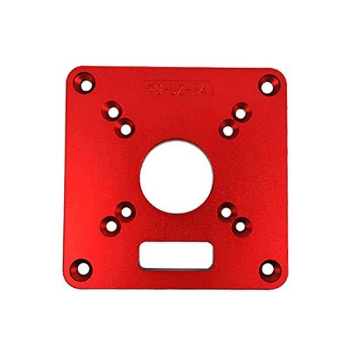 Enrutador de aluminio universal Placa de inserción de mesa Bancos de carpintería Enrutador de madera Modelos de recortador Máquina de grabado