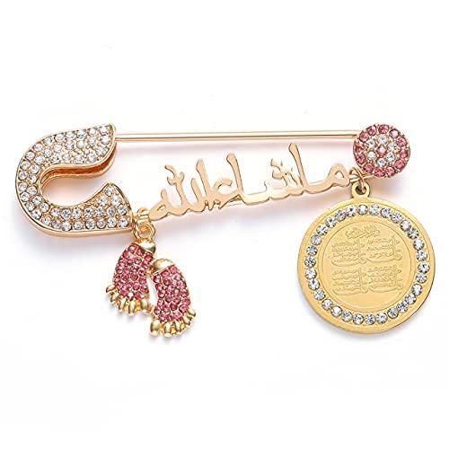 LHL Broche para bebé con diseño de cuatro de Islam en Turquía árabe