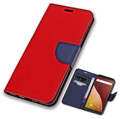 CoverOne Handyhülle für Wiko View Prime Hülle, Premium Leder Flip Schutzhülle Handytasche Case Cover für Wiko View Prime Tasche