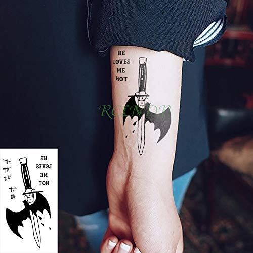 Etiqueta engomada del Tatuaje Temporal Impermeable Suicidio ...