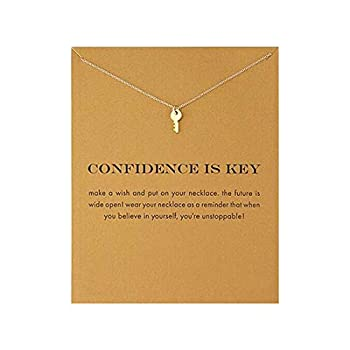 Simple Key Clavicle Necklace Best Friend Gift Wish Necklace  Key