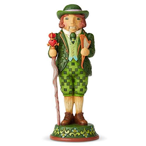 Enesco Jim Shore Heartwood Creek Santa's Around The World Irish Nutcracker Figurine, 9.25 Inch, Multicolor