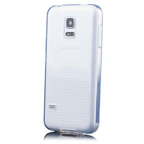 iCues | Samsung Galaxy S5 MINI | trasparente TPU Chiaro | protettore foglio trasparente della cassa della pelle del gel Sereno Sereno silico [Screen protector Compreso] Custodia Cover Case Tasca Borsa