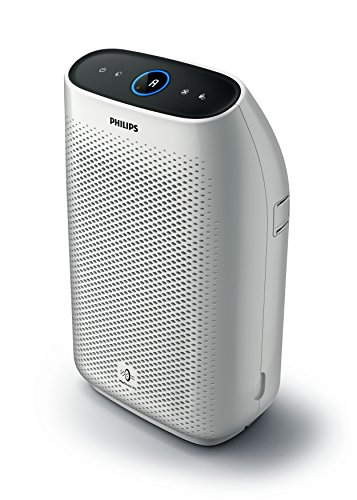 Philips AC1214/10 Luftreiniger Connected entfernt bis zu 99,9{1a10292ffe10c6947b4b053da4c5f2b4ac198536c807479806cf9d7ca23946cb} der Viren und Aerosole* aus der Luft - ECARF zertifiziert (für Allergiker und Raucher, bis zu 63m², CADR 270m³/h, mit App-Steuerung) weiß