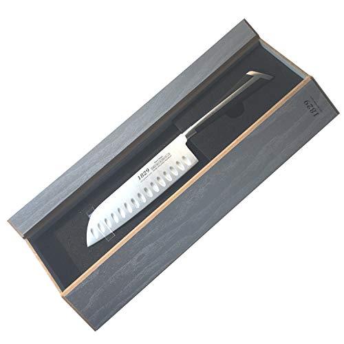 CSSolingen Santokumesser mit Kulle Extrem Scharf und Hart Geschenkbox Messer Kochmesser