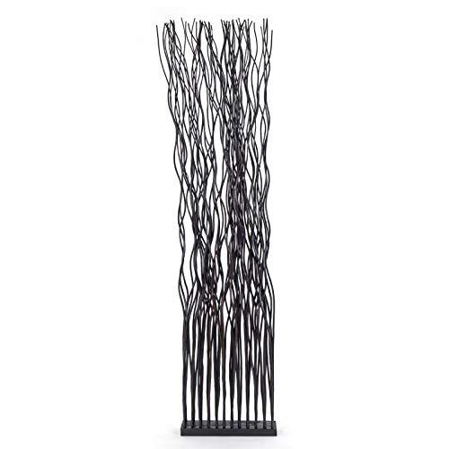 Decoratieve RUIMTEVERDELER Wave | rieten hout, 170x44 cm (HxB) | scherm van rieten takken, scheidingswand, paravent | Kleur: bruine