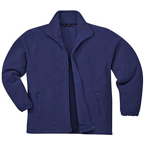 Portwest Mens Argyll Full Zipped Heavy Fleece Coat Jacket Black Navy