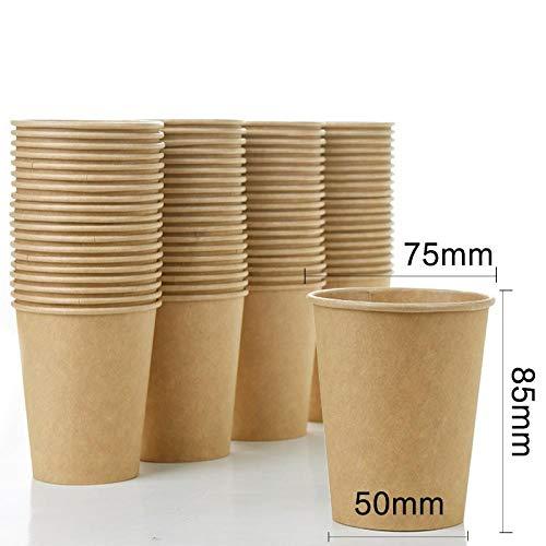 Bamboe Fiber Natuurlijke Papier Bekers Verdikt Wegwerp Bekers Thee Bekers Sap Melk Thee Hot Drink Bekers 80 DONKER
