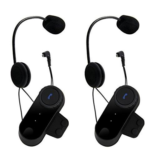Pathson Motorrad Gegensprechanlage Bluetooth Gegensprechanlage bluetooth motorradhelm motorrad bluetooth headset (2x800M Bluetooth Headset)