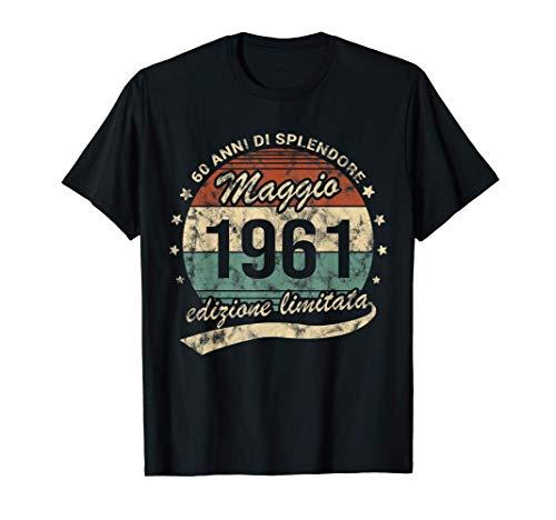 Retr/ò 60 Anni Nato nel 1961 Edizione Limitata 60/° Compleanno Maglia a Manica
