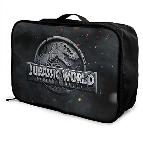 Jurassic World - Bolsa de equipaje portátil de gran capacidad, impermeable, hecha de poliéster, con patrones de impresión elegantes y exquisitos