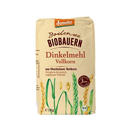 Campo Verde, Demeter Bodensee Biobauern Dinkelvollkornmehl, 5er Pack (5 x 1 kg)