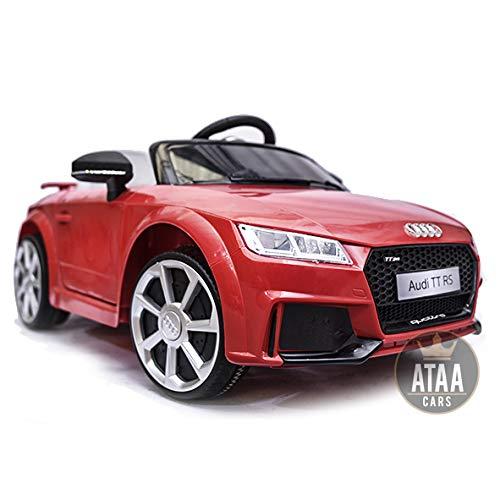 ATAA Audi TT RS 12v Licenciado con Mando - Coche eléctrico para niños - Rojo
