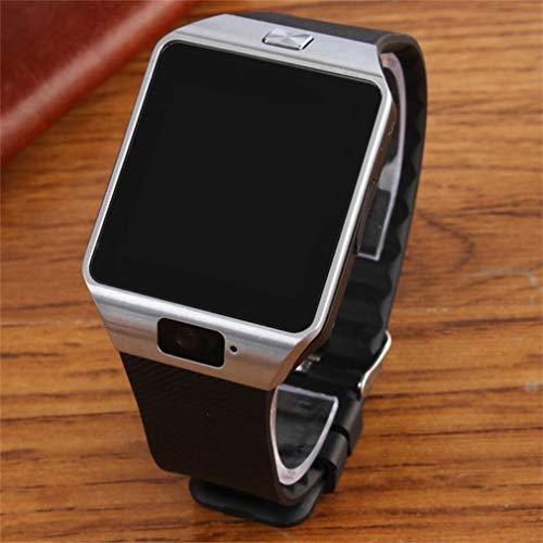 DAMAJIANGM Dz09 Smartwatch Pantalla táctil Sport Smart Watch Reloj de Pulsera Hombres Mujeres Reloj Plateado Negro