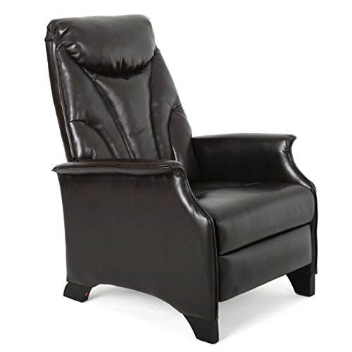 Christopher Knight Home Alastair Leather Recliner, Espresso