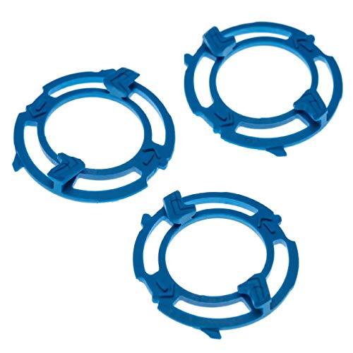 vhbw 3x Soportes de cabezal compatible con Philips S5270, S5271, S5290, S5310, S5320, S5330, S5340, S5355, S5360 afeitadora, azul