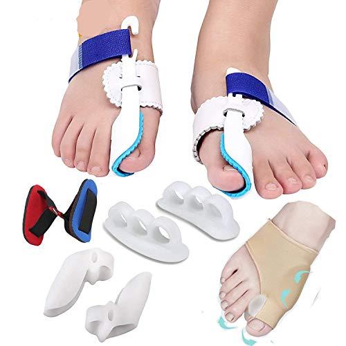 Trattamento del dolore in alluce valgo, Big Toe congiunta, Hammer toe, separatore per dita distanziatori piastre per stecca aiuto Surgery trattamento 9PCS