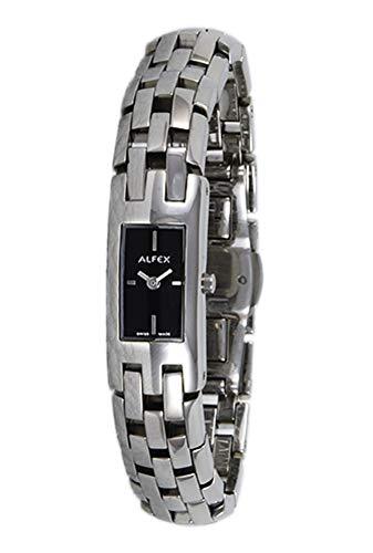 Alfex Reloj de pulsera analógico para mujer con mecanismo de cuarzo con acero inoxidable Pulsera 5483