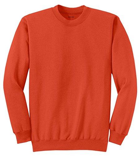 Joe's USA Adult Classic Crewneck Sweatshirt, 4XL -Orange