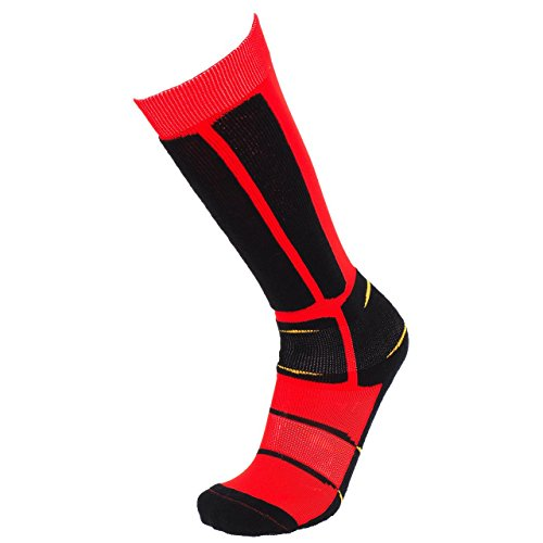 SD Best selection - Back Side Rouge cho7 - Chaussettes de Ski - Rouge - Taille 45