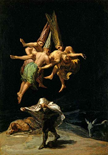 O Voo das Bruxas de Francisco de Goya - 75x106 - Tela Canvas Para Quadro
