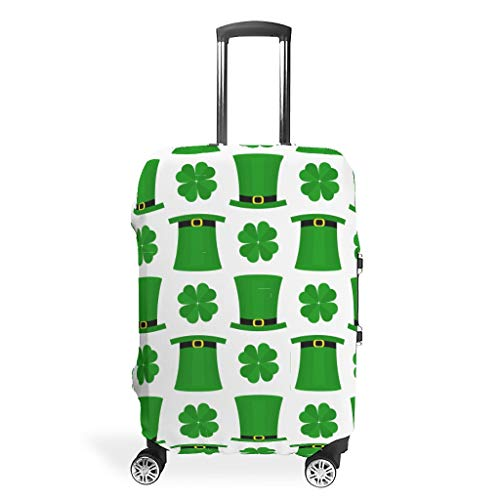 XHJQ88 St Patrick's Day Travel Suitcase Protector - Distinctive 4 Sizes Suit for Most Luggage Case White m(22-24 inch)