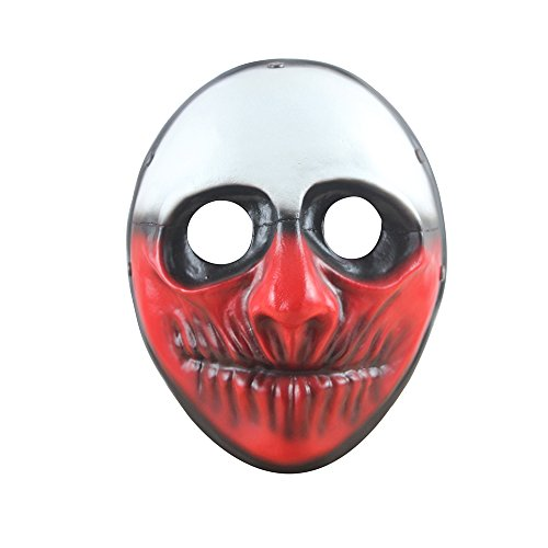FLOWMASH Halloween Mask, Payday 2 Theme Game Mask for Horror Cosplay Party, Fencing, War-Game, Costume Play and More (Payday2 Wolf)
