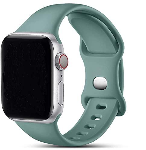 VIKATech Compatible con Apple Watch Correa 44mm 42mm 40mm 38mm, Deportivas de Silicona Correas de Repuesto Compatible con iWatch Series 6/SE/5/4/3/2/1