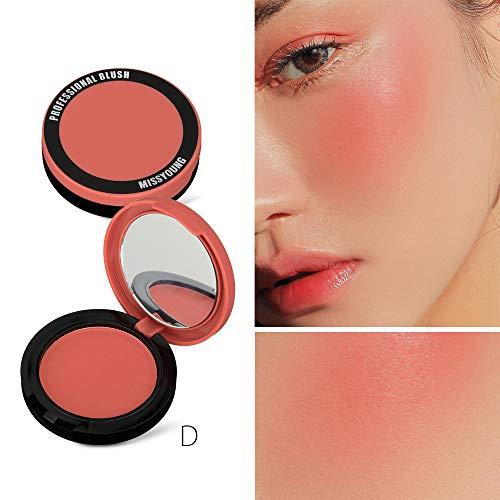 Metermall Comfortable For Single Blusher Contour Natural Matte Rouge Long Lasting Cheek Makeup Brighten Skin D