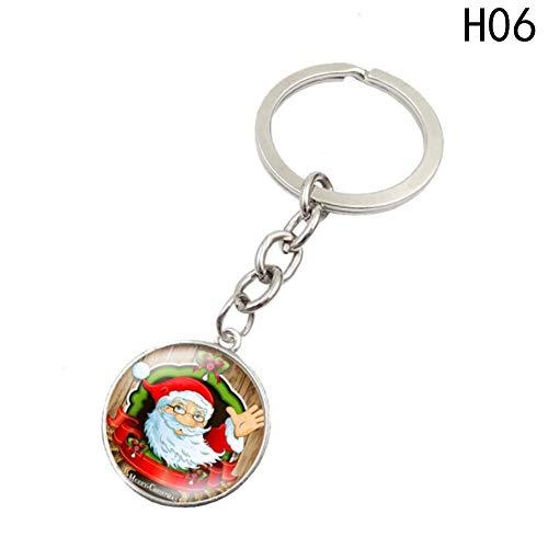 XHYKL Kerst hangers Sleutelhanger tijd edelsteen ring hanger Sleutelhanger Mooie Mode Meisje